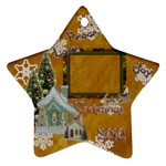 village peace love joy 2010 ornament 77 - Ornament (Star)