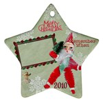santa remember when 2010 ornament 172 - Ornament (Star)