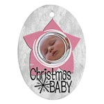 Baby Girl Christmas - Ornament - Oval Ornament (Two Sides)