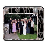 I Love My Family Large Mousepad