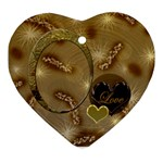 Love oval1 Ornament - Ornament (Heart)