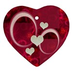Love oval4 pink Christmas Ornament - Ornament (Heart)