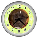 Lime Juice Clock - Wall Clock (Silver)