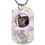 Iris dog chain - Dog Tag (One Side)