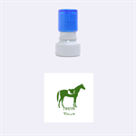 Horse - Rubber Stamp Round (Small)