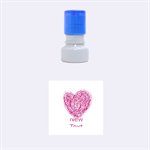 heart - Rubber Stamp Round (Small)