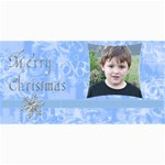 Blue Christmas Photo Card3 - 4  x 8  Photo Cards
