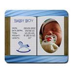 Newborn Baby Boy Mousepad - Large Mousepad
