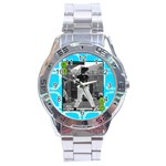Men s watch 8 - Stainless Steel Analogue Watch