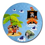 Pirate Pete round mousemat - Round Mousepad