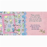 Slumber Party Invitation Photo Card - 4  x 8  Photo Cards