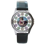 Flower round watch with photo - Round Metal Watch