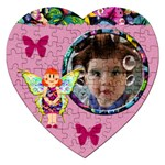 Fairy tales PINK - Puzzle - Jigsaw Puzzle (Heart)