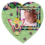 Fairy tales GREEN - Puzzle - Jigsaw Puzzle (Heart)