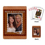 Mom & Daughter Playing Cards - Playing Cards Single Design