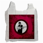 Fantasia pnk swirls guitar man recycle bag 2 sides - Recycle Bag (Two Side)