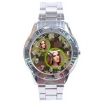 stainless analogue army fatigue a1 twin frame camo watch - Stainless Steel Analogue Watch