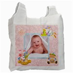 Blanky Bunny Newborn Baby pink recycle bag 2 sides - Recycle Bag (Two Side)