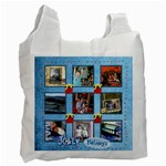 Jolly holidays fairy lights multi frame Christmas recycle bag - Recycle Bag (Two Side)