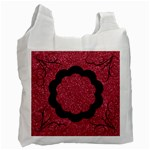 Shiny Red Swirls Recycle Bag - Recycle Bag (One Side)