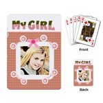 my girl card template - Playing Cards Single Design (Rectangle)