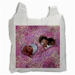I heart you PINK swirl recycle bag - Recycle Bag (One Side)