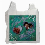 I heart you blue aqua2 baby recycle bag - Recycle Bag (One Side)