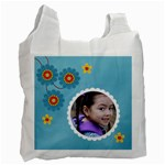 Recycle Bag (One Side-)template-flowers1 - Recycle Bag (One Side)
