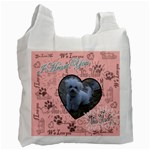 We Love You This Much paw pink White recycle bag - Recycle Bag (One Side)