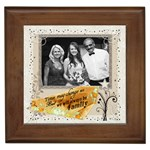 Always Be Family Framed Tile
