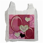 I Heart You moon 22 pink love gold recycle bag - Recycle Bag (One Side)