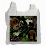 I Heart You 32 love birds recycle bag - Recycle Bag (One Side)