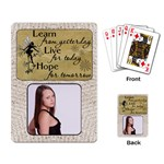 Learn, Live, Hope Playing Cards - Playing Cards Single Design