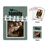 My Family Cards blue circle - Playing Cards Single Design (Rectangle)