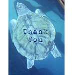 seaturtle thank you - Greeting Card 4.5  x 6