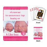 New baby announcement - Playing Cards Single Design
