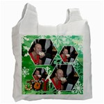winter wonderland snowflakes recycle bag - Recycle Bag (Two Side)