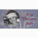 Merry Christmas blue and green - 4  x 8  Photo Cards