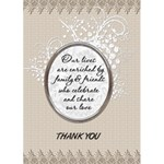 Wedding Thank You Card - Greeting Card 5  x 7