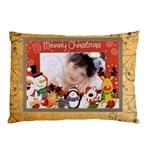 Merry Christmas rudolf frame pillow case