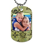 Dog tag for Alex and Little P - Dog Tag (One Side)