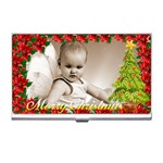merry christmas business card holder