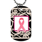 Breast Cancer Pink ribbon dog tag - Dog Tag (Two Sides)
