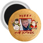 Merry Christmas santa snowman fridge magnet - 3  Magnet