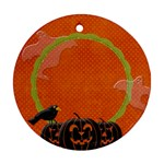 {ScrapDZines} Ghostly Halloween Ornament - Ornament (Round)