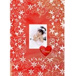 Christmas Basics Floral Heart Christmas Card 2 - Greeting Card 5  x 7