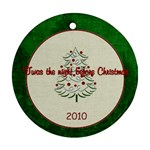 Christmas Twas the Night Before - Ornament (Round)