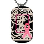 Breast Cancer Pink ribbon dog tag 2 - Dog Tag (Two Sides)