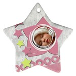 Christmas baby PINK - ORNAMENT - Star Ornament (Two Sides)
