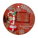 Angel Blonde Remember when 2010 ornament 32 ornament round - Ornament (Round)